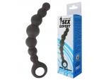 Чёрная анальная цепочка Sex Expert - 15 см. #105322