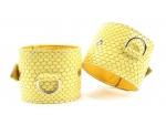 "Кожаные наручники ""Желтый питон"""