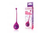 Ярко-розовый вагинальный шарик со смещенным центром тяжести Cosmo #105889