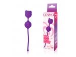 Фиолетовые вагинальные шарики с ушками Cosmo