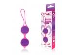 Фиолетово-розовые вагинальные шарики Cosmo #105926