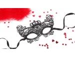 Черная ажурная текстильная маска Элизабет #108394
