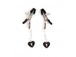 Только что продано Черные металлические зажимы на соски с декором в виде сердечек на цепочке от компании Bior toys за 564.00 рублей