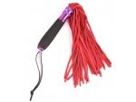 Красный флоггер с черной металлической ручкой Notabu - 40 см.