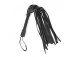 Черный флоггер с черной ручкой Notabu - 49 см.
