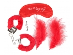 Набор красных БДСМ-аксессуаров из 4 предметов #119032