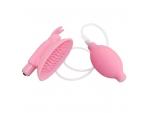 Розовая вакуумная помпа для клитора Naughty Rabbit  #129451