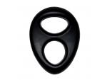 Черное эрекционное кольцо на пенис RINGS LIQUID SILICONE #147358