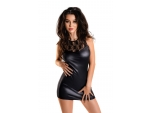 Сексуальное платье Lulu из материала с мокрым блеском #157060