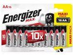 Батарейки Energizer MAX AA/LR6 1.5V - 16 шт. #181900