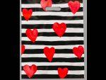 """Полиэтиленовый пакет """"Красные сердечки"""" - 31 х 40 см. #186190"""