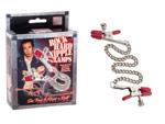 Цепочка для груди Phil Varone Rock Hard Nipple Clamps с красными резиночками #21723