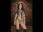 Леопардовый комплект Kofi: бюстгальтер и трусики-стринг #23274