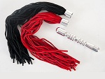 Ребристая анальная втулка с двумя сменными плетками  #24426