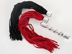 Металлическая анальная цепочка с двумя сменными плетками #24428