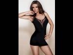 Облегающее платье с открытой спиной #24539