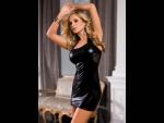 Облегающее платье с прозрачными вставками на спинке #25851