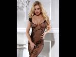 Сексуальный костюм-сетка с цветочным узором #27079