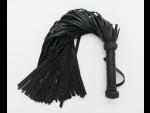 Чёрная плетка с 110 хвостами - 75 см. #28107