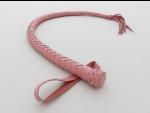 Розовый кожаный снейк без рукоятки - 75 см. #28109