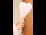 Розовая шлёпалка в форме сердца #28195
