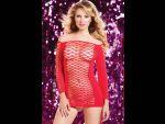 Откровенное платье в крупную сетку #29994