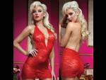 Роскошное мини-платье из кружева с трусиками #30127