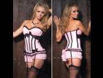 Светло-розовый корсет POMPADUR #30395