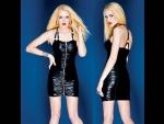 Платье черное с блеском #30580