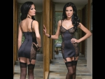 Платье с леопардовыми вставками #30686