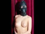 Чёрная кожаная маска с прорезями для глаз #30973
