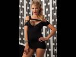 Двустороннее платье бунтарки с вырезами #32415