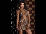 Платье с леопардовым принтом HALTER MINI DRESS LEOPARD #33808