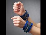 Стильные синие наручники из неопрена #33909