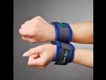 Синие наручники для начинающих с застежками на липучках  #33914