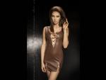 Облегающее платье с глубоким декольте со шнуровкой Carissa #34396