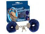 Меховые наручники синего цвета #37206