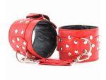 Красные кожаные наручники #39263