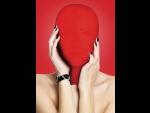 Закрытая красная маска на лицо Subjugation #41032