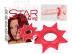Красное эрекционное кольцо в форме звезды Star #41121