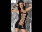Миниатюрное платье для коктейлей с разрезами #43730
