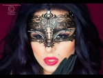 Таинственная маска со сверкающими стразами #46144