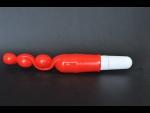 Анальный вибромассажер в виде шариков - 19 см.