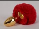 """Только что продано Золотистая анальная пробка c пушистым красным хвостом """"Задорный Кролик"""" от компании 4sexdreaM за 3325.00 рублей"""