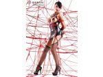 Платье с открытой грудью Yuriko в комплекте с веревками для связывания #54648