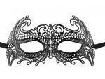 Чёрная металлическая маска Sea Goddes Masquerade Mask #61195