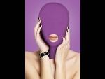Фиолетовая маска на голову с прорезью для рта Submission Mask #61196