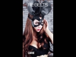 Чёрная маска Carrie Black с круглыми ушками #64414