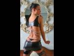 Сексуальное платьице Escape из материала с мокрым блеском