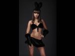 """Чёрный костюм """"Зайка"""" #66921"""